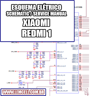 Esquema Elétrico Smartphone Celular Xiaomi Redmi 1 Manual de Serviço   Service Manual schematic Diagram Cell Phone Xiaomi Redmi 1      Esquematico Smartphone Celular Xiaomi Redmi 1