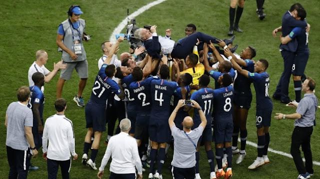 Bantai Kroasia di Final, Prancis Juara Piala Dunia 2018