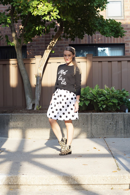 how to wear polka dots chicago fashion