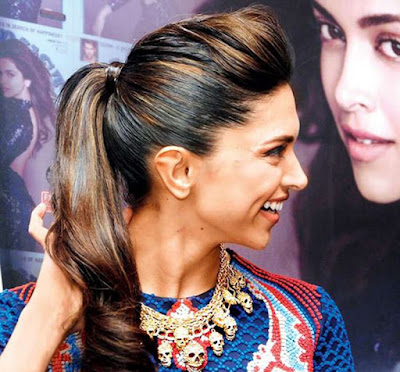 deepika in ponytail