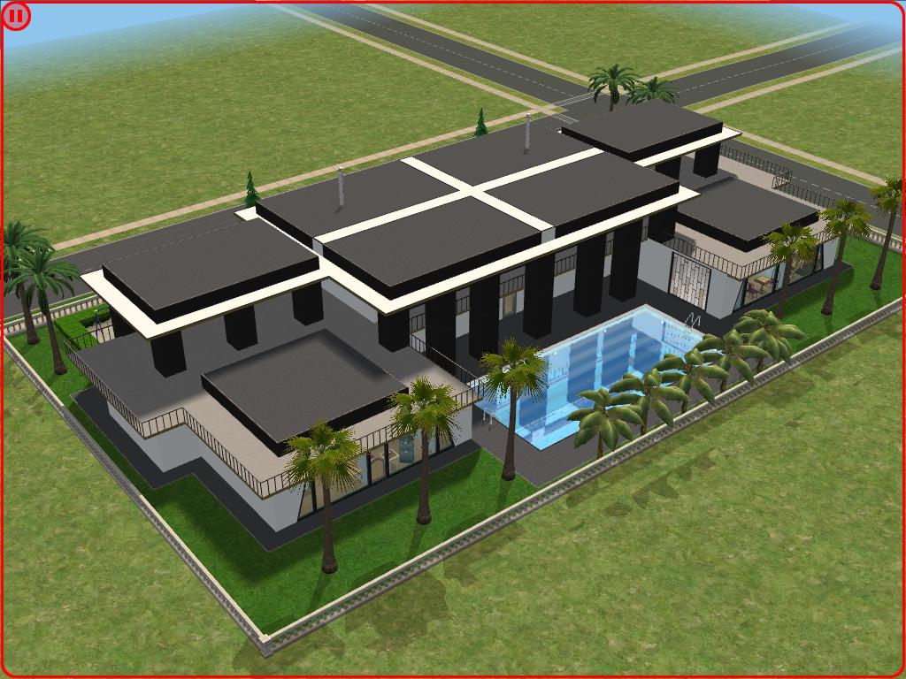 Sims 3 Modern Mansion Floor Plans: O Melhor Do The Sims 2: Modern Mansion