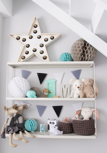 Estrellas en habitaciones infantiles