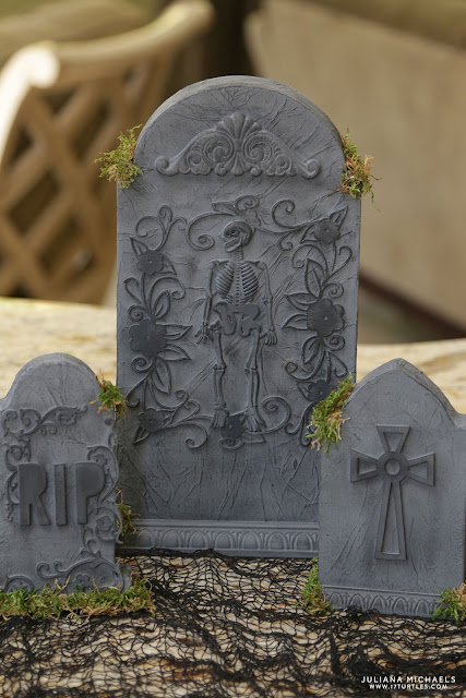 Halloween Tombstone Graveyard Centerpiece by Juliana Michaels
