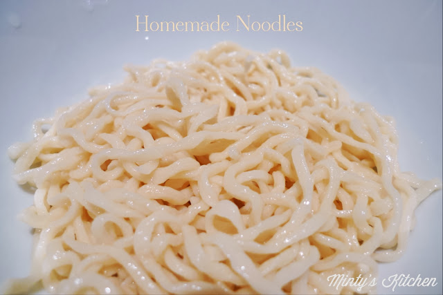 Homemade Pan Mee (Board Noodles)