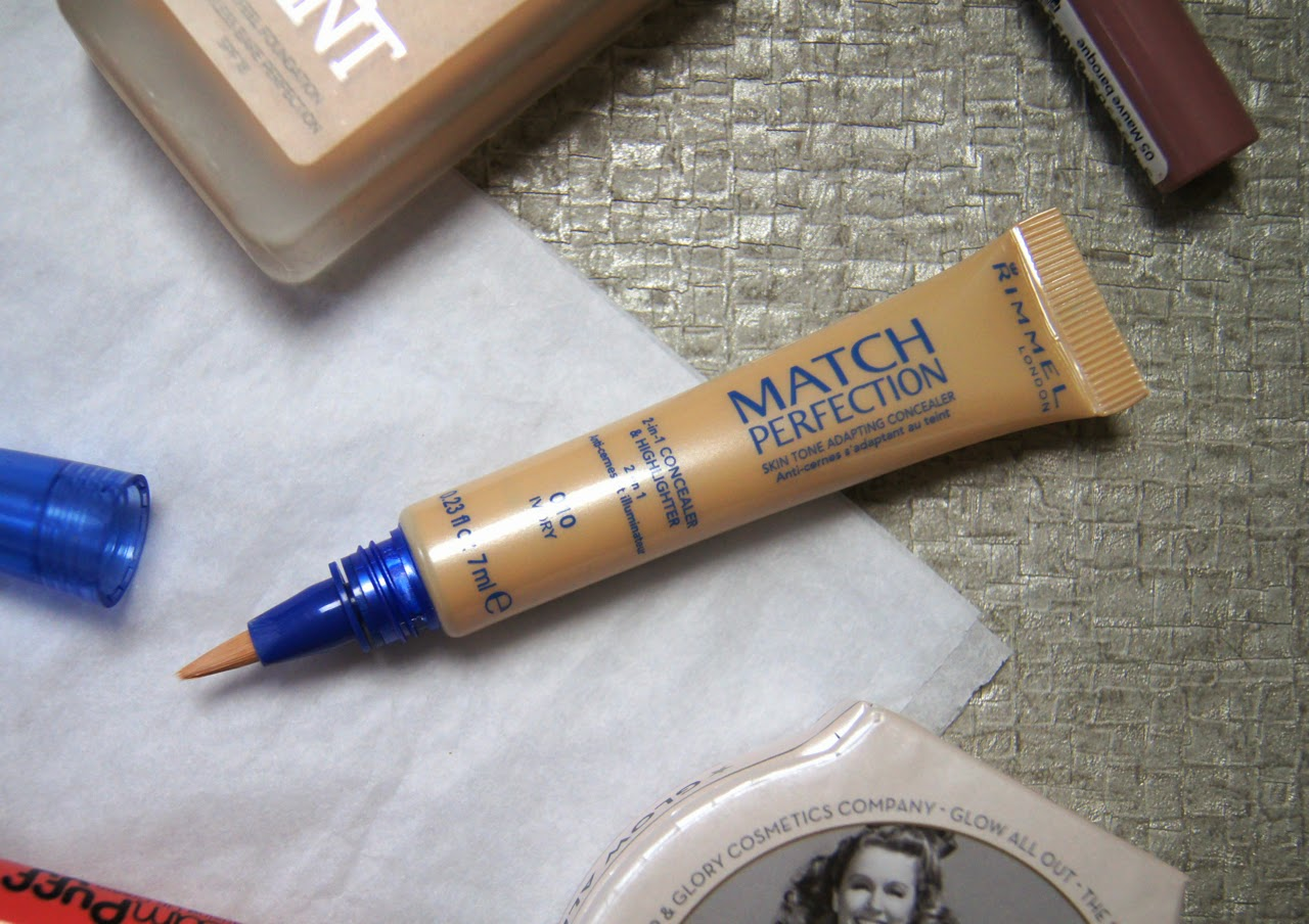 rimmel match perfection 2-in-1 concealer highlighter review