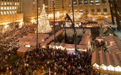foto mercado de navidad en chicago estados unidos