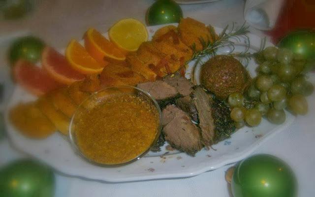 arácsonyi őz pecsenye  narancsos  mézeskalács mártásban,