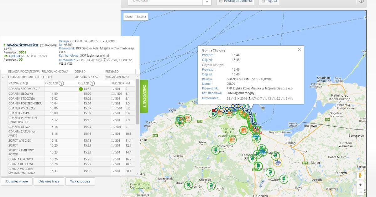 Skyradar Pl Mapa Pociagow Gdzie Jest Pociag Monitoring Ruchu