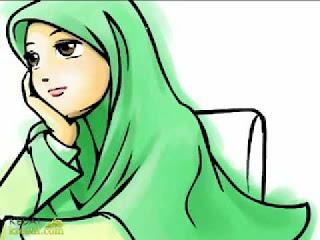 Gambar Kartun Wanita Berjilbab Lucu Dan Imut
