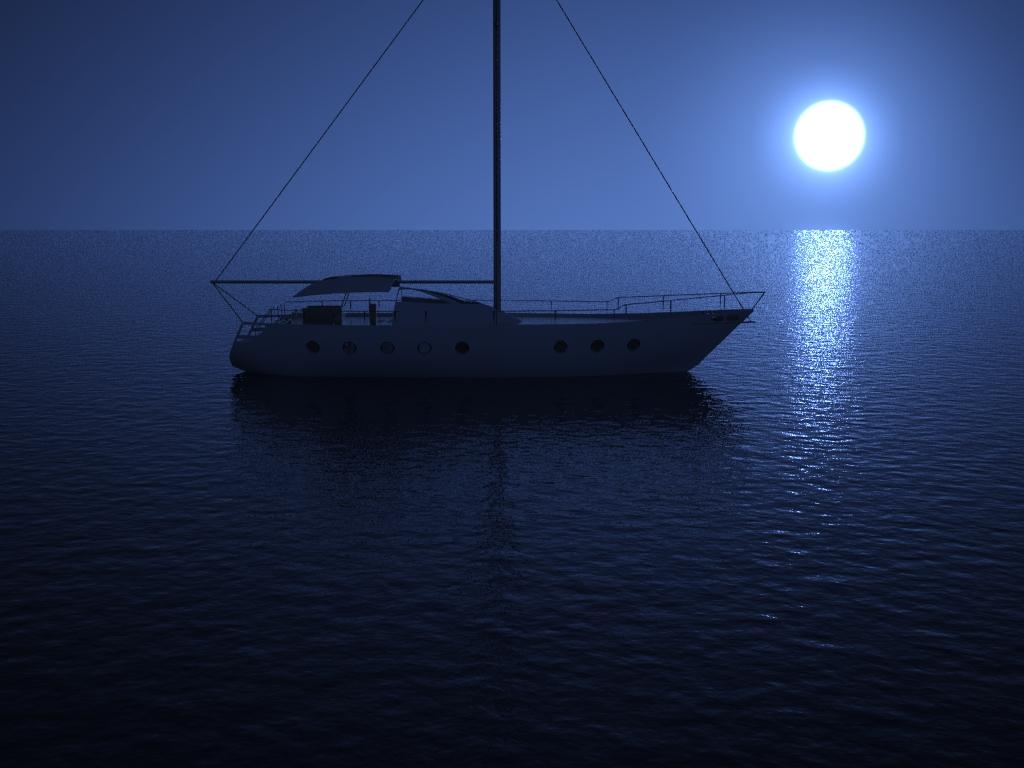 Gustavo SCosta Barco no oceano