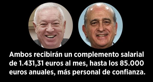El PP recoloca a Fernández Díaz y Margallo con presidencias de comisión en el Congreso