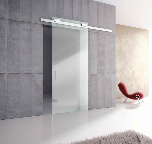 Pintu geser kaca modern