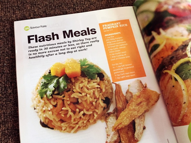 livewell magazine features pumpkin rice recipe