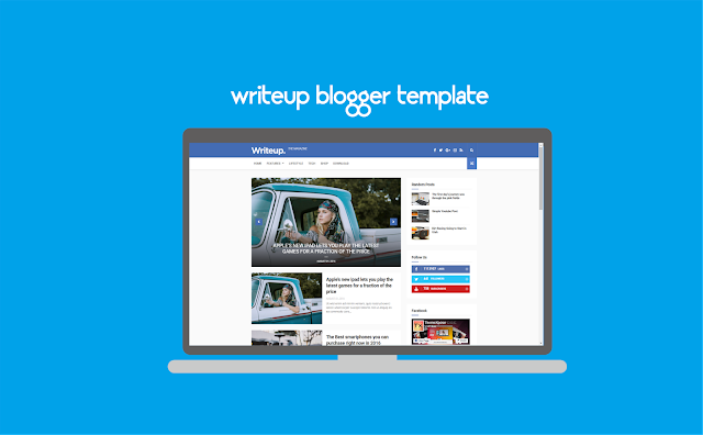 Writeup Blogger Template Free  Download