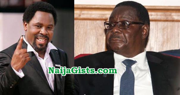 malawi president tb joshua a liar