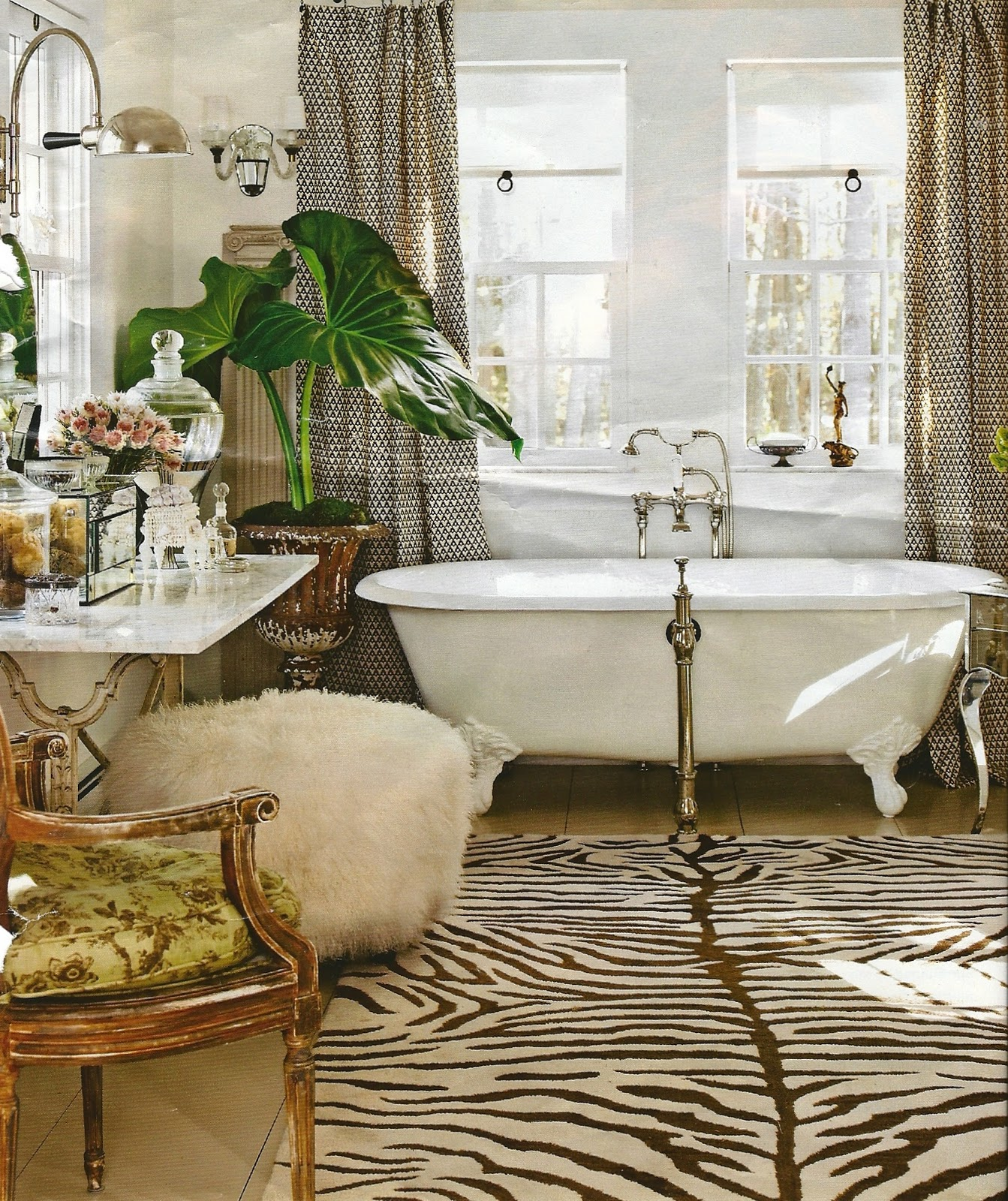 Animal Print Decor: To Da Loos: Loving Animal Print In The Bathroom
