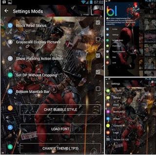 BBM Mod Tema Deadpool V3.0.1.25 Apk | Whatsapp