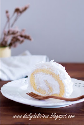 Young Coconut Roll Cake
