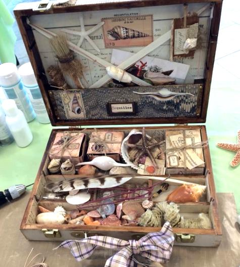 shell memory box