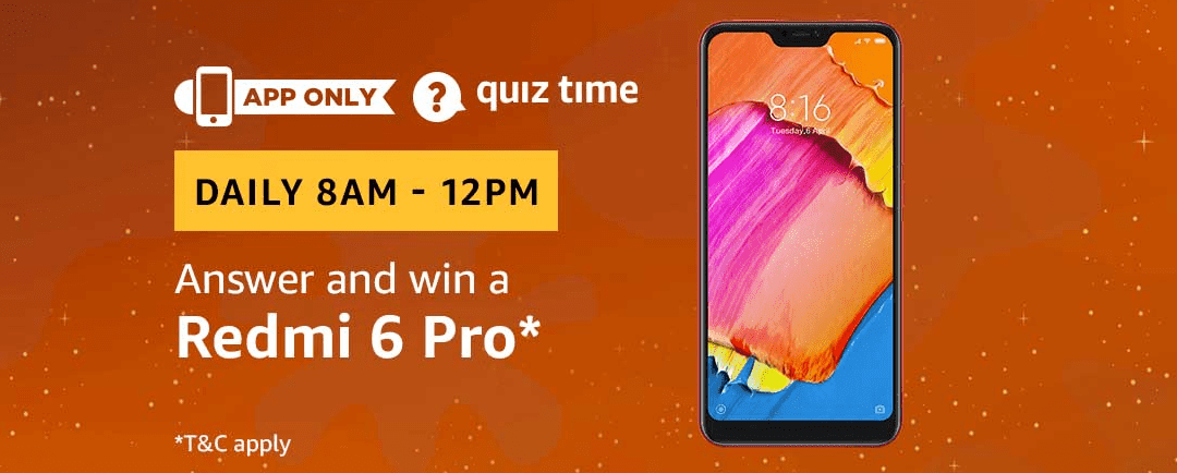 Amazon Today Quiz Contest Answers: Answer the Questions and Win