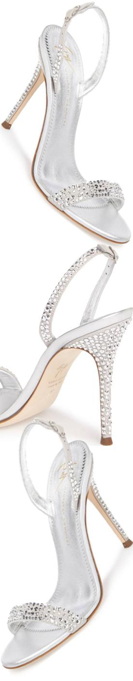 GIUSEPPE ZANOTTI Musitco Crystal Embellished Slingback Sandal