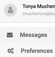 image of preference selection for School Messenger