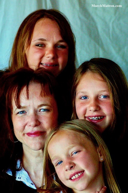 Portrait of me and my three daughters.