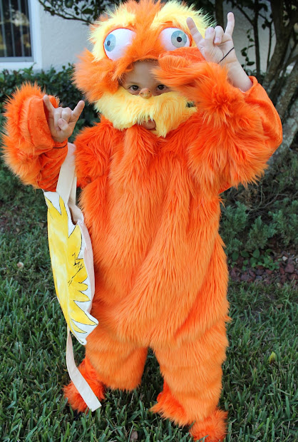 Laci Jean Lorax Costume With Trufulla Tree Candy Bag