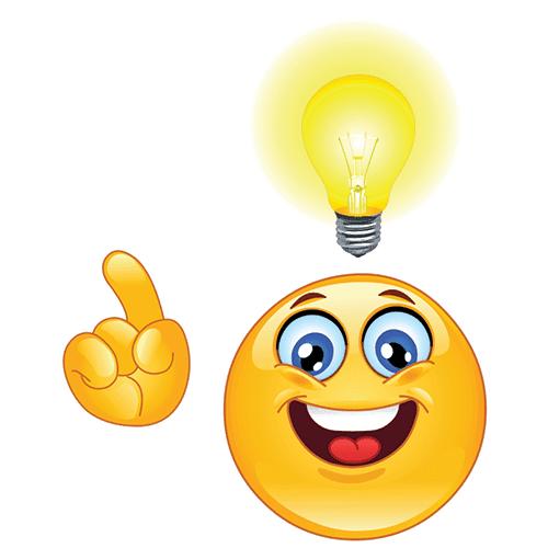 Smiley Having an Idea!