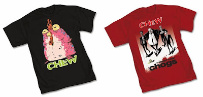 "Graphitti Designs x Image Comics Chew T-Shirts by Rob Guillory - ""Chog"" & ""Reservoir Chogs"""