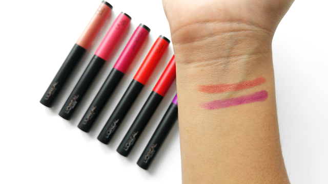 L'Oreal Infallible Matte FX 10 HR Matte Lipcolours Swatches