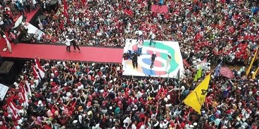 25 Ribu Orang di Lampung Barat Deklarasi Dukung Jokowi-Ma'ruf