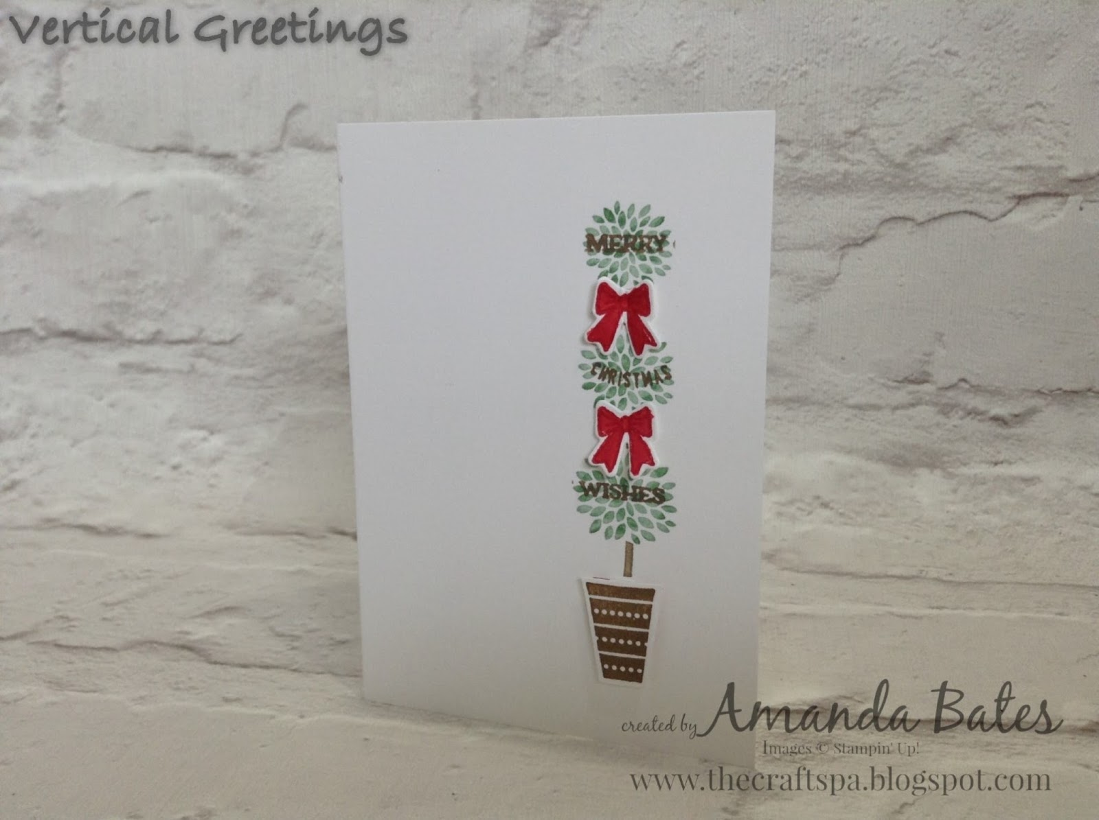 The craft spa stampin up uk independent demonstrator order vertical greetings topiaryr christmas m4hsunfo