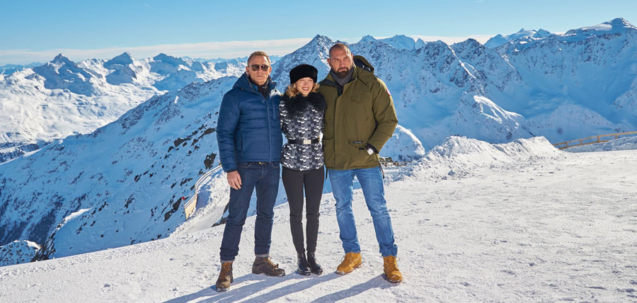 Daniel Craig, Lea Sydoux şi Dave Bautista în Austria la filmările pentru Bond 24: SPECTRE