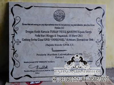 Prasasti Peresmian  Marmer Surabaya