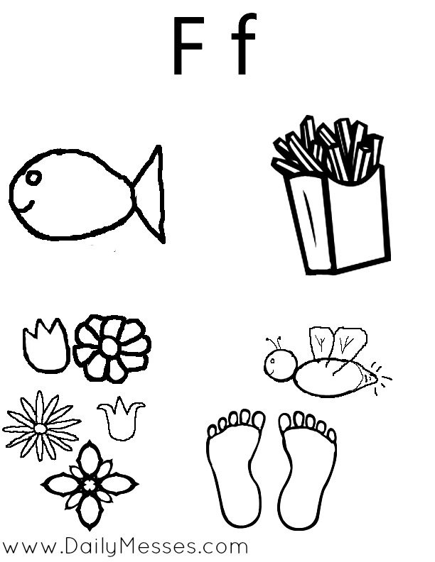 Daily Messes: F is for Fish, Fairy, and Food