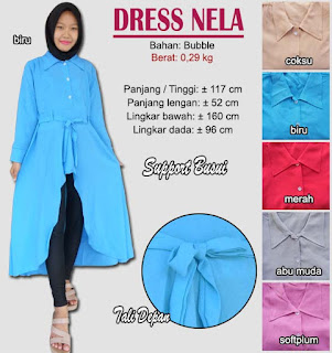 Dress anggun model terbaru-nela