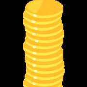 縦に積まれた金貨のイラスト