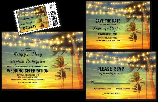 Sunrise Wedding Invitations: Wedding Cards And Gifts: Beach Wedding Invitations