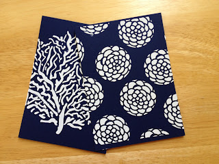www.tinascreativestudio.com texture paste and stencils on Navy cardstock