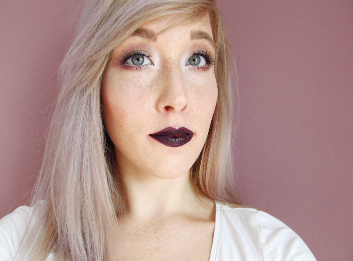 loreal lip paint lacquer dark river