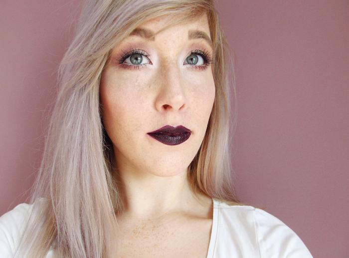 loreal lip paint lacquer dark river