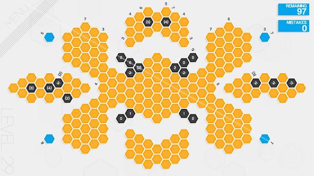 Screenshot from Hexcells