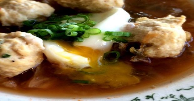 Kimchi Miso Chicken Ball Soup Recipe