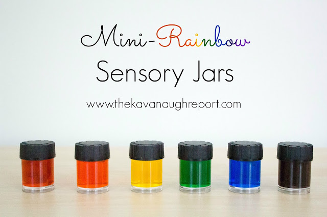 These mini rainbow sensory jars are a fun way to introduce colors in a Montessori home. This open ended exploration is easy to make a fun for babies and young toddlers.