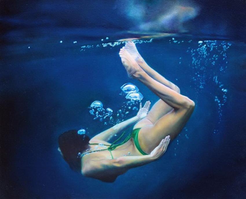 Foto chica nadando desnuda mar photo 96