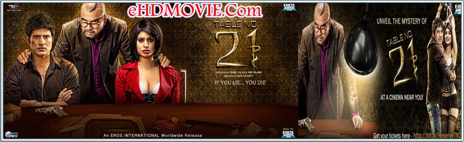 Table No. 21 2013 Full Movie Hindi 720p - 480p ORG BRRip 300MB - 1GB ESubs Free Download