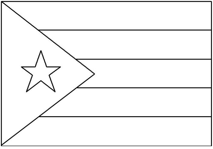Geography Blog: Bandera De Cuba Para Colorear