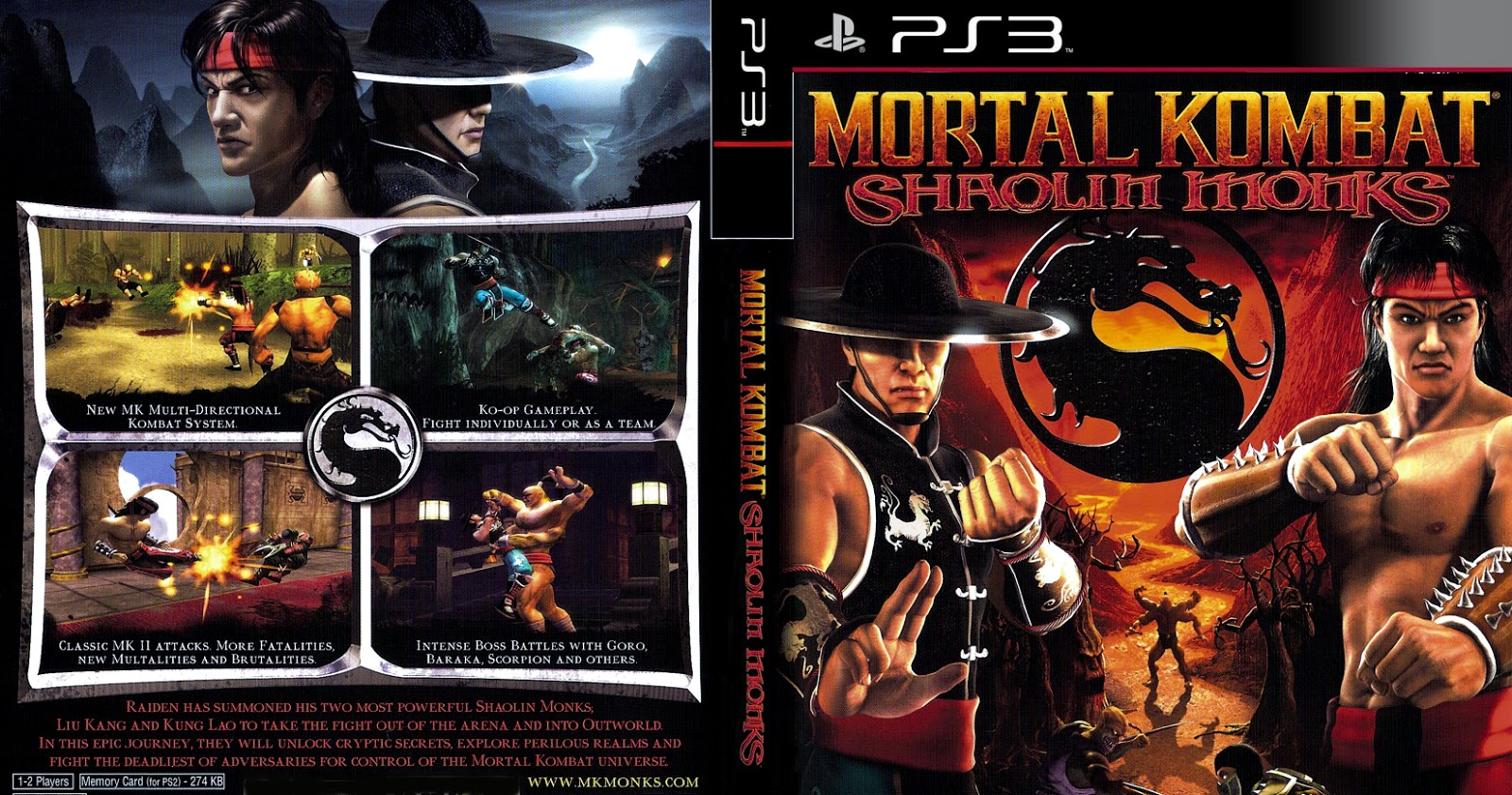 games & gamers: mortal kombat shaolin monks ps3/ps2 download