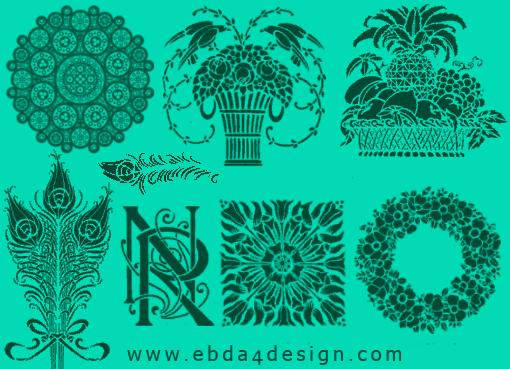 تحميل فرش زخارف وزهور للفوتوشوب مجاناً, Photoshop Brushs free Download, Floral Ornament Photoshop Brushs free Download